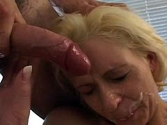 Blonde babe gets her asshole pounded