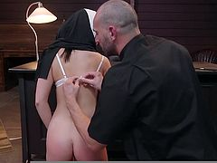 I can't even imagine how this nun should have sinned, in order to receive such a severe punishment, in the form of cruel face fucking and this is just the beginning... Want to see what tortures await her ahead? Join!