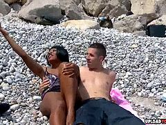 Hot black chick wants him to plunge her love tunnel as hard as he can.