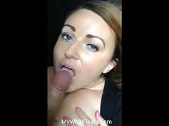 Busty 20yr old college slut doing her job to keep her boyfriend