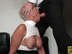 Deep throated real wam mature submissive gets anally plowed in hd